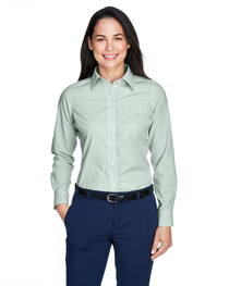 Devon & Jones Ladies' Crown Woven Collection™ Banker Stripe