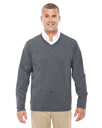 Devon & Jones Adult Fairfield Herringbone V-Neck Pullover