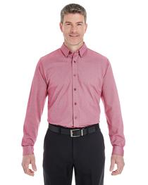 Devon & Jones Men's Central Cotton Blend Mélange Button-Down