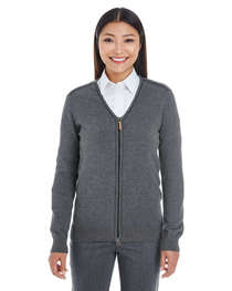 Devon & Jones Ladies' Manchester Full-Zip Cardigan Sweater