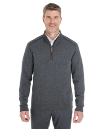 Devon & Jones Men's Manchester Quarter-Zip Sweater