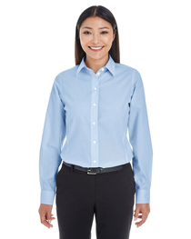 Devon & Jones Ladies' Crown Woven Collection™ Striped Shirt