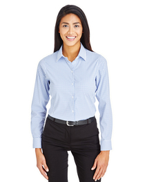 Devon & Jones CrownLux Performance™ Ladies' Windowpane Shirt