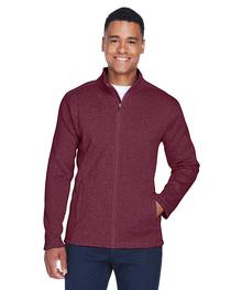 Devon & Jones Men's Bristol Full-Zip Sweater Fleece Jacket