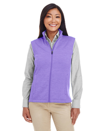 Devon & Jones Ladies' Newbury Mélange Fleece Vest