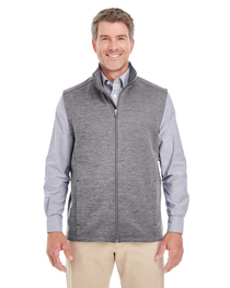 Devon & Jones Men's Newbury Mélange Fleece Vest