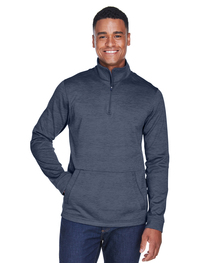 Devon & Jones Men's Newbury Mélange Fleece Quarter-Zip