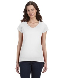 Gildan Ladies' SoftStyle® 4.5 oz. Fitted V-Neck T-Shirt