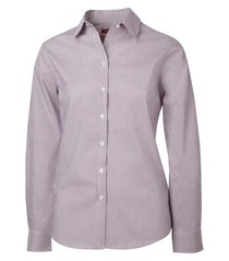 Coal Harbour® Mini Stripe Woven Ladies' Shirt