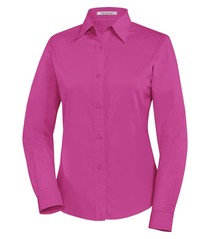 Coal Harbour® Easy Care Long Sleeve Ladies' Woven Shirt