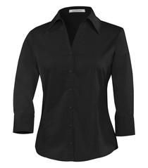 Coal Harbour® Easy Care 3/4 Sleeve Ladies' Woven Shirt