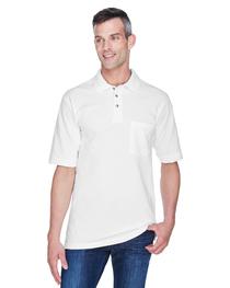 Harriton Adult 6 oz. Cotton Piqué Short-Sleeve Pocket Polo