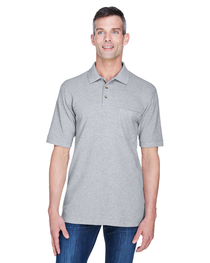 Harriton Adult 6 oz. Cotton Piqué Short-Sleeve Pocket Polo