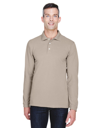Harriton Men's 5.6 oz. Easy Blend™ Long-Sleeve Polo