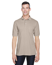 Harriton Men's 5.6 oz. Easy Blend™ Polo with Pocket