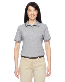 Harriton Ladies' 5.6 oz. Tipped Easy Blend™ Polo