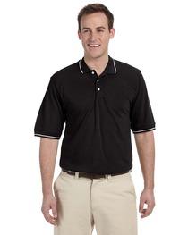 Harriton Men's 5.6 oz. Tipped Easy Blend™ Polo
