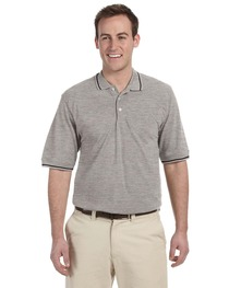 Harriton Men's 5.6 oz. Tipped Easy Blend™ Polo