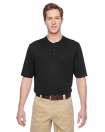 Harriton Adult Short-Sleeve Performance Henley