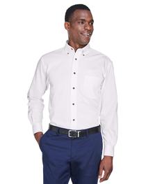 Harriton Men's Easy Blend™ Long-Sleeve Twill Shirt  Stain-Re