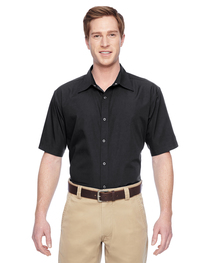 Harriton Men's Advantage Snap Closure Short-Sleeve Shirt
