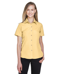 Harriton Ladies' Barbados Textured Camp Shirt