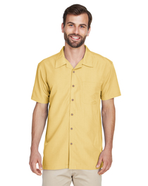 Harriton Men's Barbados Textured Camp Shirt