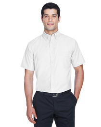 Harriton Men's Short-Sleeve Oxford with Stain-Release