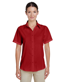 Harriton Ladies' Paradise Short-Sleeve Performance Shirt