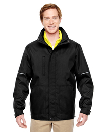 Harriton Adult Contract 3-in-1 Jacket  Daytime Hi-Vis Fleece