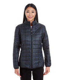 North End Ladies' Portal Printed Packable Puffer Jacket