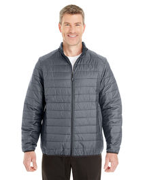 North End Men's Portal Printed Packable Puffer Jacket