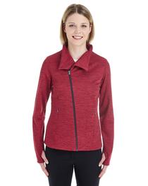 North End Ladies' Amplify Mélange Fleece Jacket