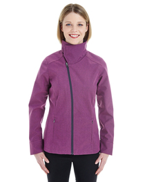 North End Ladies' Edge Soft Shell Jacket  Collar