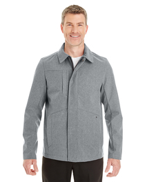 North End Men's Edge Soft Shell Jacket with Fold-Down Collar