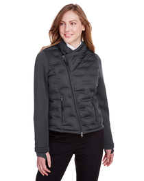 North End Ladies' Loft Pioneer Hybrid Bomber Jacket