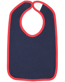 Rabbit Skins Infant Contrast Trim Bib