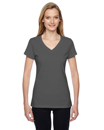Fruit of the Loom Ladies' 7.8 oz. Sofspun® Junior V-Neck T-S