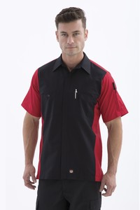 Red Kap® Short Sleeve Woven Crew Shirt