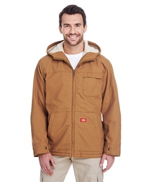 Dickies Men's 8.5 oz./yd² Sanded Duck Sherpa-Lined Hooded Ja