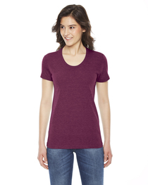 American Apparel Ladies' Triblend Short-Sleeve Track T-Shirt