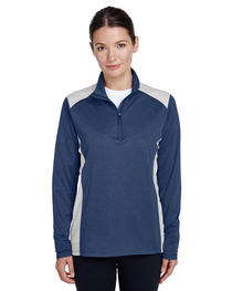Team 365 Ladies' Excel Interlock Quarter-Zip Top