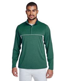 Team 365 Men's Excel Interlock Quarter-Zip Top