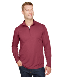 Team 365 Men's Zone Sonic Heather Performance Quarter-Zip