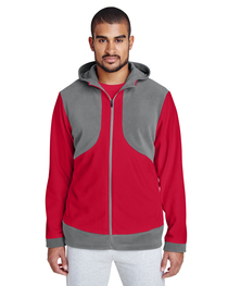 Team 365 Men's Rally Colorblock Microfleece Jacket