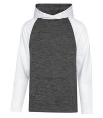ATC™ Dynamic Heather Fleece Two Tone Youth Hooded Sweatshirt