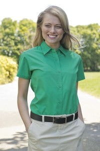 Coal Harbour® Easy Care Short Sleeve Woven Ladies' Shirt