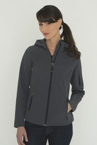 Coal Harbour® Essential Hooded Soft Shell Ladies' Jacket